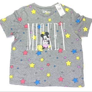 Disney Mickey Mouse T-Shirt Stars Small NWT Crew